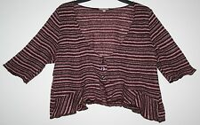 *PER UNA* PRETTY LIGHTWEIGHT KNITTED STRIPPED CROPPED CARDIGAN SIZE 18