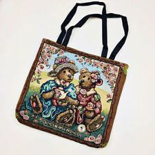 Boyds Bears Afternoon Tea Lined Tapestry Tote Bag