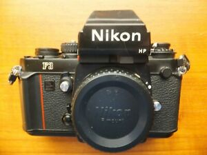 NIKON F3 HP SERIAL #1749692 (MADE 09-85) WORKS ALL SPEEDS (HP FINDER DING) CLEAN