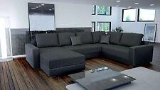 Couch Garnitur Ecksofa Sofagarnitur Sofa STY 3 U Wohnlandschaft Schlaffunktion