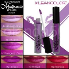 6 PC KLEANCOLOR MADLY MATTE LIPGLOSS Bold Vivid Purple Red Beautiful Colors 1814