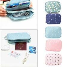 Portable Earphone Data USB Cable Cards Travel Case Organizer Pouch Storage Bag