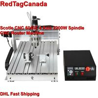 Scotle CNC 6040Z 2200W 4 Axis Spindle Mini Benchtop Router Machine DHL 2YRS WRT