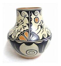"Santo Domingo 12"" Migration Polychrome Vase Pottery Hand Built by Thomas Tenorio"