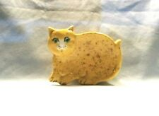 Cat  I*65 - 42 -  Ceramic  Orange / White / Brown Spots  Cat Spoon  Rest