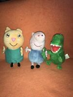 Peppa Pig Teddys Plush Soft Toy..George Dinosaur And Cat Bundle Ty And Peppapig