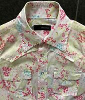 DSQUARED2 S/S 2005 WESTERN BLUMEN BLOUSE HEMD TOP BLUSE SHIRT 44 38 FLOWER POWER
