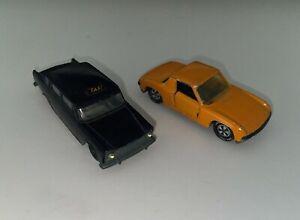 Siku V201 Fiat 1800 Taxi und V312 VW-Porsche 914