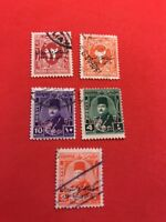 World Stamps Egypt Overprinted Issues Lot 692