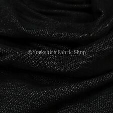 10 Metres Of Soft Luxurious Chenille Heavily Textured Black Upholstery Fabric
