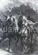 Crusaders Crusades Knights Leaders Horseback First 1st Crusade 7x5 Inch Print
