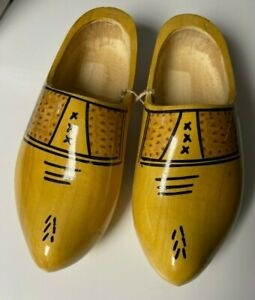 Hand Carved Dutch Holland Wooden Shoes Clogs