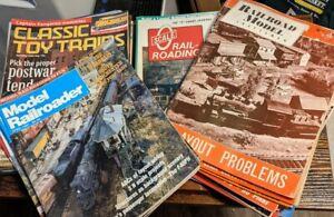36 Railroad Train Magazines: Model Craftsman, Classic Toy, O Gauge, Railroader