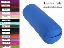 Cotton Yoga Bolster Cover to Fit Standard Bolster 75 x 25cm Diameter Two Layers