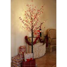 6 FT (ca. 1.83 m) Albero di Natale Berry Ramoscello Pre Illuminato LED Bianco Caldo Luci da interno & esterno.
