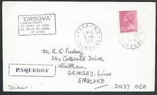 GB SENEGAL 1973 cover GB 2½d, Dakar cds, Paqueobt, Orsova ship cachet......56429