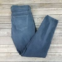 Current Elliott Womens 28 Stiletto Lake Skinny Jeans Ankle Mini Polka Dot Blue
