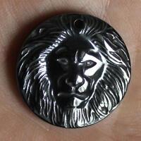 25mm  Hematite lion pendant bead   g3045