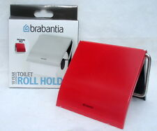 Brabantia Toilet Paper Roll Holder PASSION RED stainless steel Stylish NIB