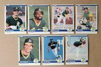 TOUGH 1984 Fleer Update Oakland Athletics A's Team Set 7 Card Bochte, Joe Morgan