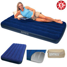"Intex 8.75"" Twin Size Downy Inflatable Airbed Mattress Aerobed Camping Air Bed"