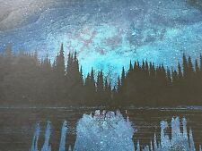 DAN MCCARTHY - Reflecting The Night Sky screenprint on wood SIGNED