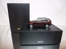 MINICHAMPS BMW X5 3.0D - REDBROWN METALLIC 1:43 -  EXCELLENT DEALER BOX