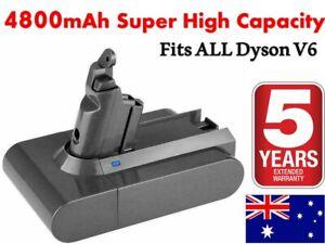 True Capacity 4800mAh 21.6V Dyson V6 Vacuum Battery 4 DC58 DC59 DC61 DC62 AU