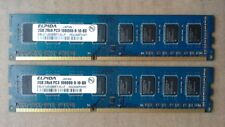 Elpida 4GB Kit 2x2GB Japan DDR3 Desktop RAM Memory 1333 MHz PC3-10600 DIMM SDRAM