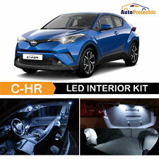 10x White Interior LED Lights Package Kit for 2018 Toyota C-HR CHR XLE + TOOL