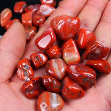 Natural Red Agate Gravel Onyx Crystal Quartz Stone Minerals Specimens Decor 50g