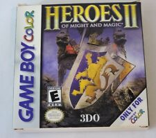 Heroes of Might And Magic ll 2 Game Boy Color CIB Complete in box Game Manual