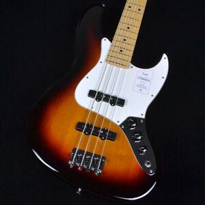 Fender: Made In Japan Hybrid II Jazz Bass 3 color Sunburst Electric Guitar