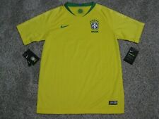 Neymar Jr. Brazil Youth Medium Yellow Nike Authentic World Cup Soccer Jersey