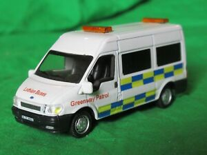 Cararama Hongwell OO scale Ford Transit Minibus Lothian Buses Greenway Patrol
