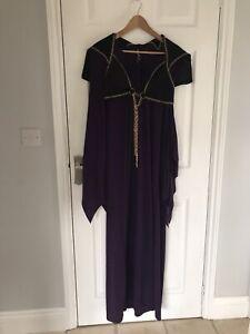Ex hire costumes - Purple Vampire Queen Purple Velour Dress Size XL