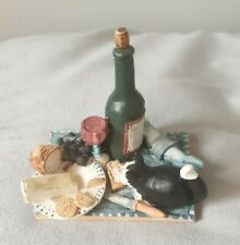 Colour Box Peter Fagan Cheese and Wine Black White Cat Food Grapes Crackers