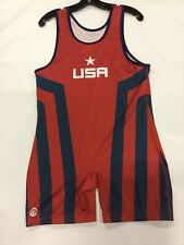 """Sublimated Mens Singlet """"USA Breakdown"""" Rd/Nvy (XL) 190-200Ibs #441"""