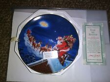 The Hamilton Collection Plate Up On The Rooftop Classic American Santa's
