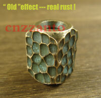 """Handcrafted Brass """"Rust effect"""" Lanyard Bead Paracord beads for Knife Tool"""
