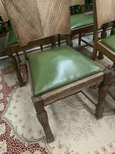 SET of 6 Antique Lions Feet Dining Chairs Deco PICK UP ONLY