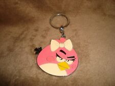 Angry Birds Stella Pink Bird Sparkly Metal Keychain