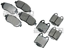 Fits Lexus GS300 GS400 GS430 IS300 Akebono ProACT Front & Rear Disc Brake Pads