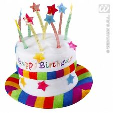 CAPPELLO HAPPY BIRTHDAY IN VELLUTO COMPLEANNO FESTA PARTY