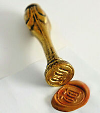 Art Nouveau Petschaft, Siegellack-Stempel, Bronze with Engraved Monogram. (P45)