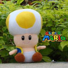 "Super Mario Bros Yellow Toad 6.5"" Plush Toy Cuddly Stuffed Animal Doll Nintendo"
