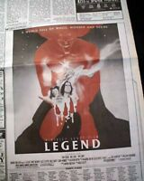 Best LEGEND Cult Classic Film Movie Opening Day AD & Review 1986 L.A. Newspaper