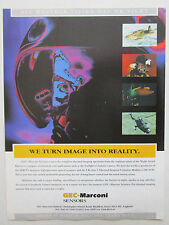 6/1995 PUB GEC MARCONI THERMAL IMAGING ALL-WEATHER VISION DAY NIGHT HELMET AD