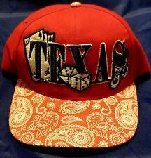 Texas Dice Gambling Hold Em Cap Hat Poker Craps Paisley Brim Snapback Pit Bull