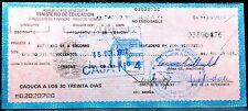 REPUCLICA DE VENEZUELA MINISTERIO DE EDUCACION ANTIQUE BANK CHECKS